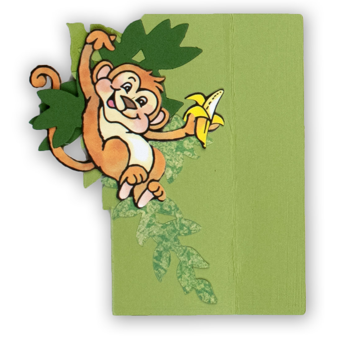 Monkey inside side panel