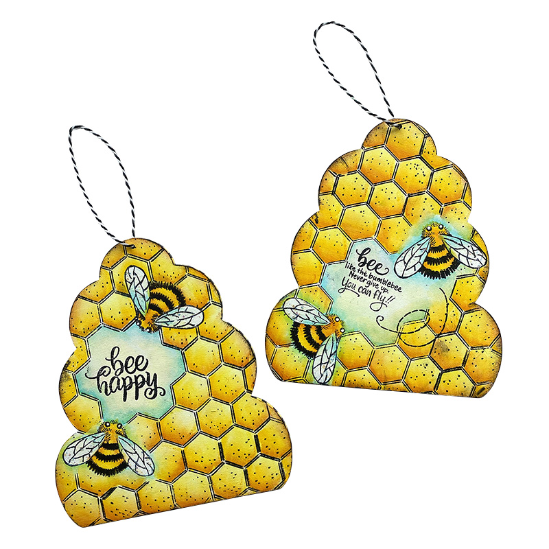 Project Example Wooden Beehive Plaques