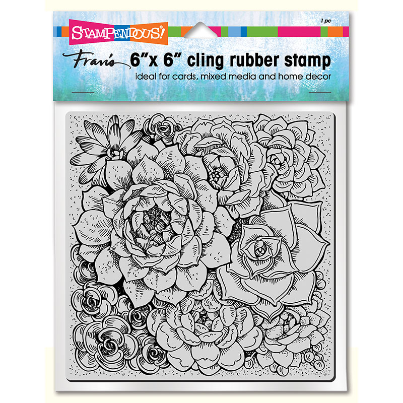 STAMPENDOUS Moroccan Tile 6 x 6 Cling Stamp