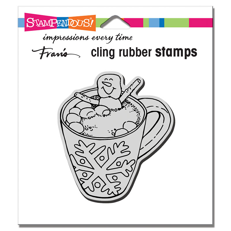 Stampendous Cocoa Hot Tub Cling Stamp