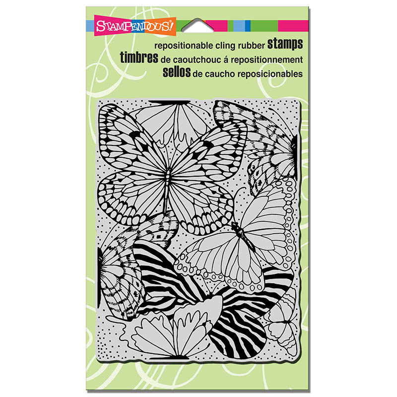 Butterfly Wings Rubber Stamp