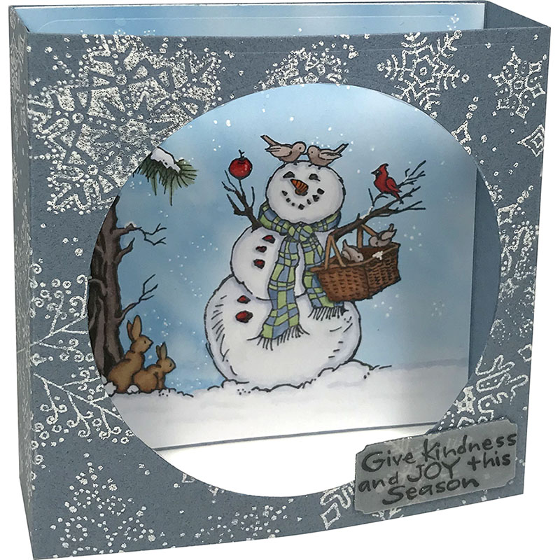 Cuttlebug,Sizzix,other Machines Snowman Wishes Stamps Words Stampendous Christmas clear cling stamp set for Handmade Cards,Scrapbooks