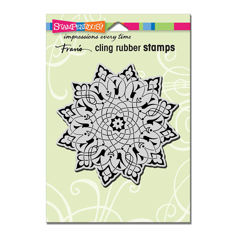 Stampendous Cling Rubber Stamp Mandala Flower