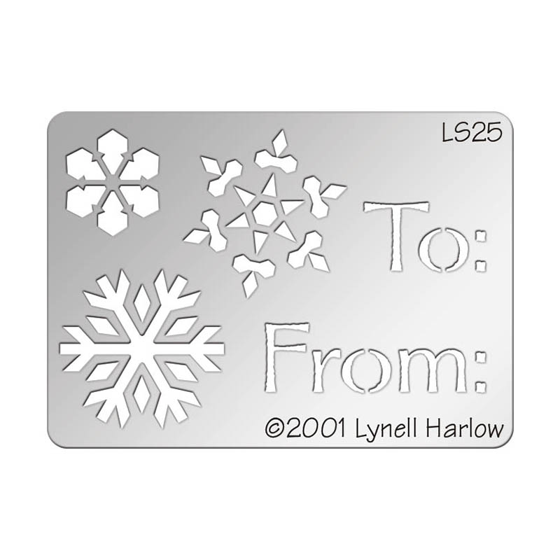 To from snowflake metal stencil