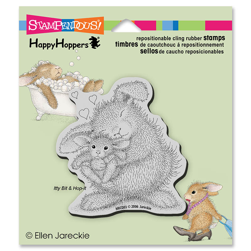 Stampendous, House Mouse Bunny Luv Cling Stamp