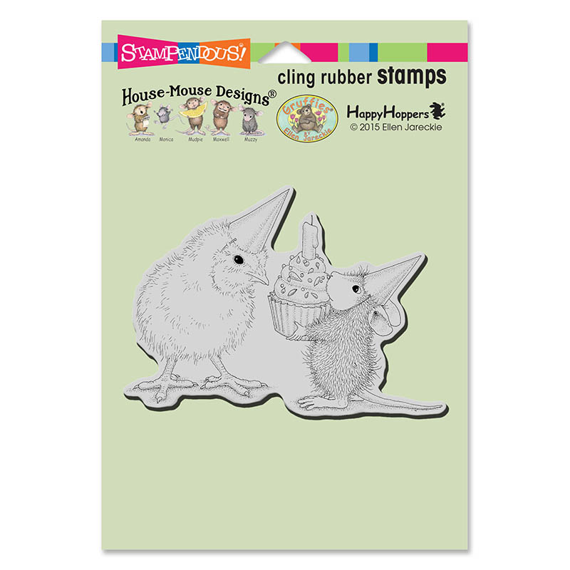 Stampendous, House Mouse Birthday Chick Cling Stamp