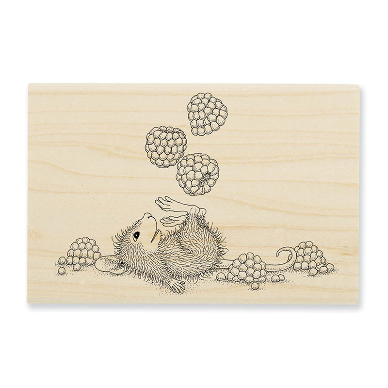 Juggling Berries Rubber Stamp
