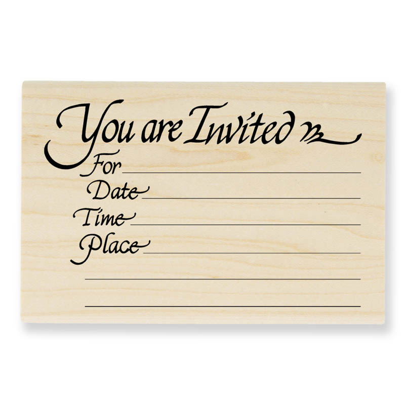 Invitation Rubber Stamp