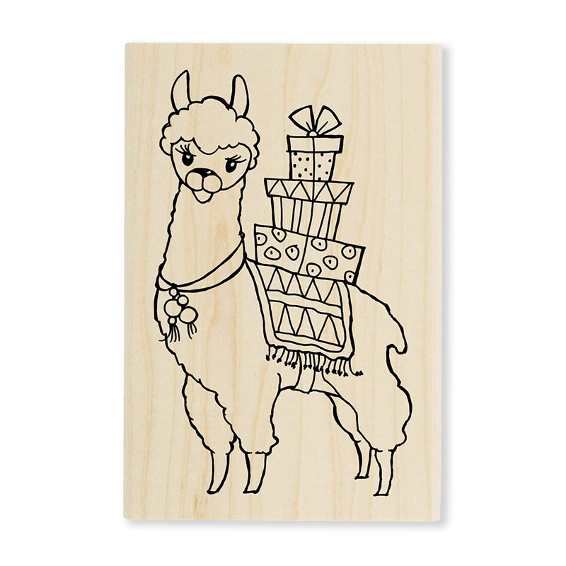 Llama Delivery Rubber Stamp