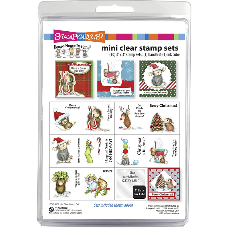 House Mouse Designs Mini Clear Stamp Set