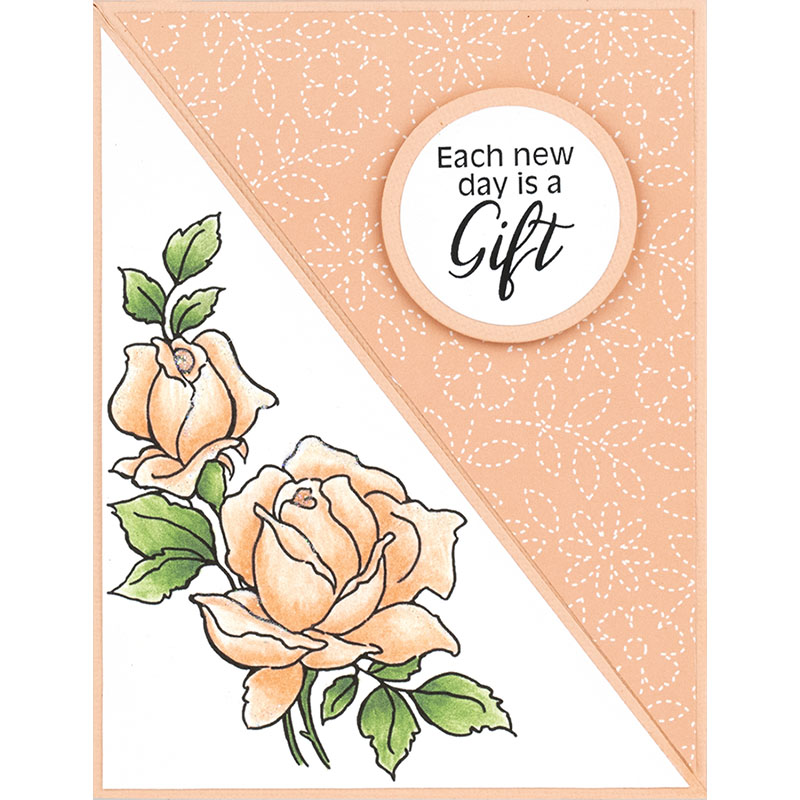 Stampendous Cling Stamp-Rose Gift