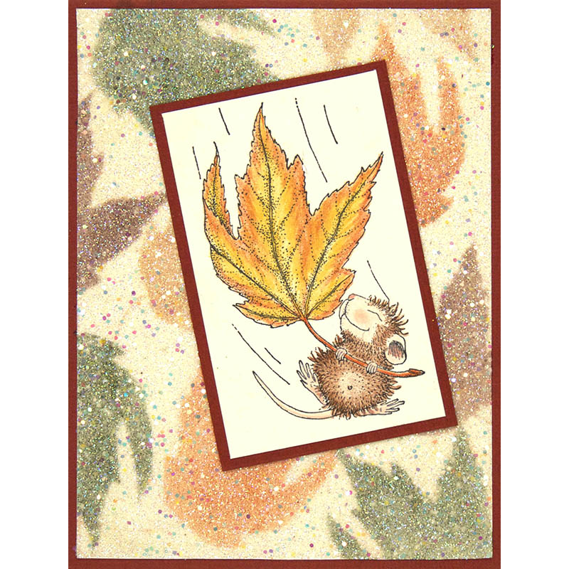 Fall Float Rubber Stamp