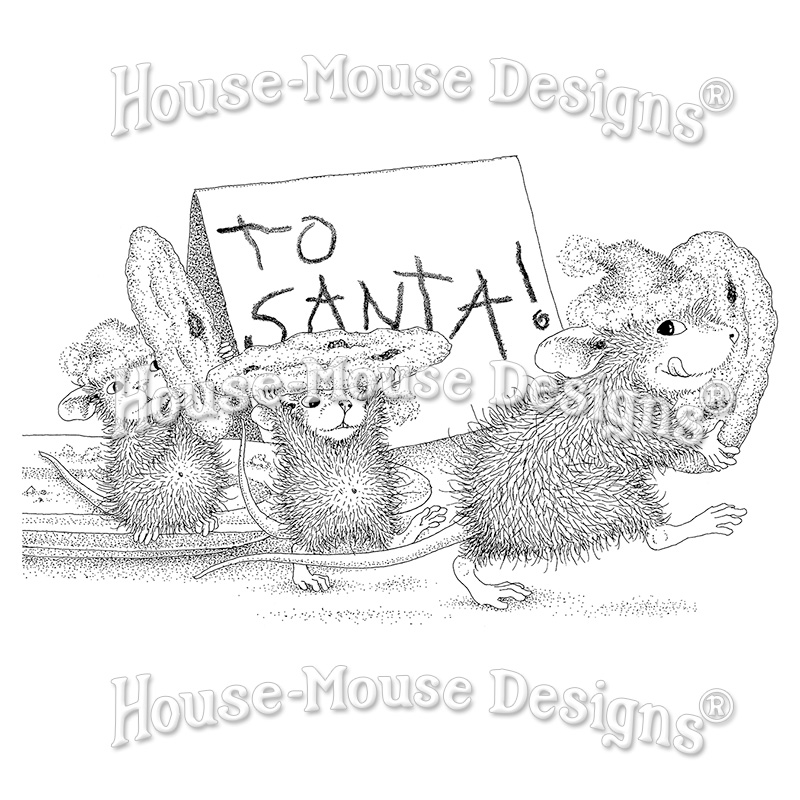 Stampendous, House Mouse, To Santa Cling Stamp