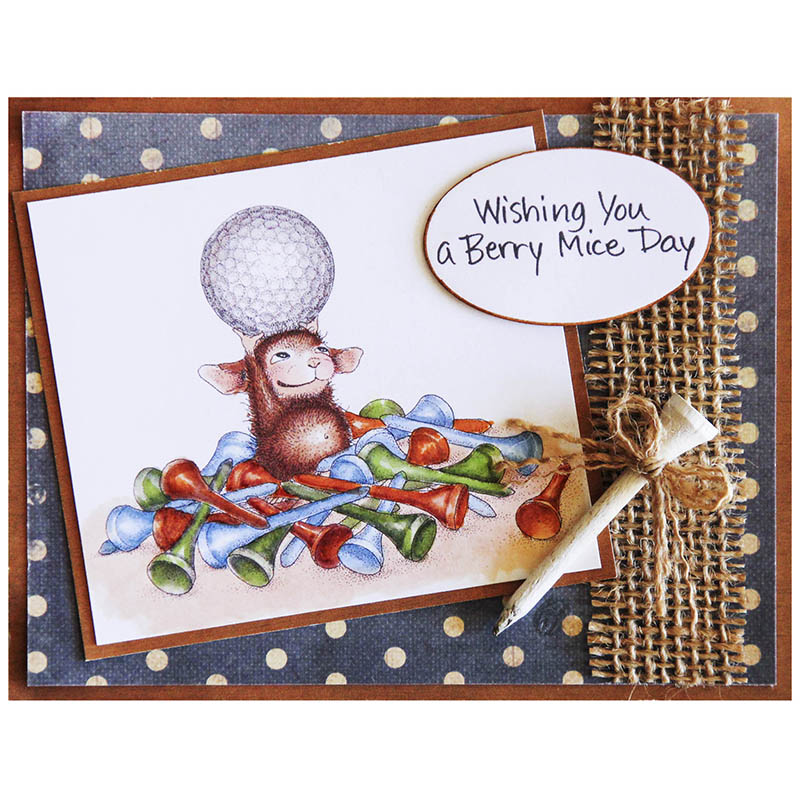 Stampendous Cling Tee Time Rubber Stamp