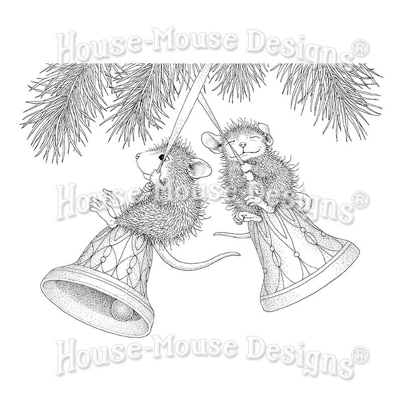 Cardinal Bell HMCQ23 Stampendous House Mouse Cling Stamp