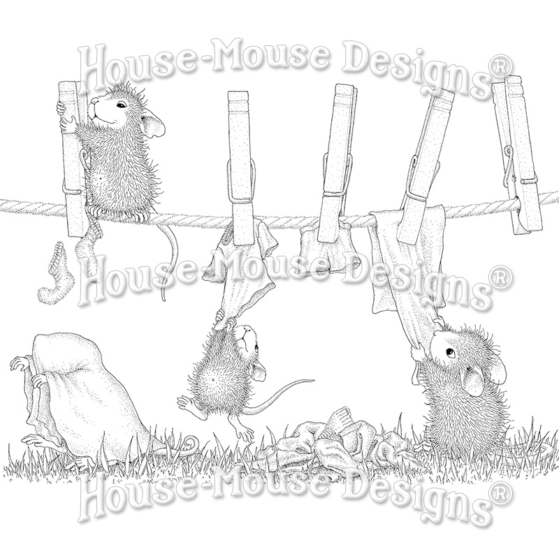 Stampabilities House Mouse Wood Mounted Rubber Stamp Wrapped /& Ready