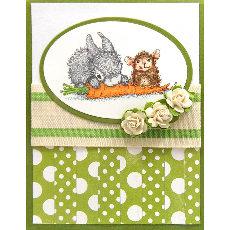 Carrot Friend Rubber Stamp