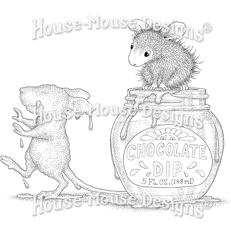 Stampendous, House Mouse Chocolate Dip Cling Stamp