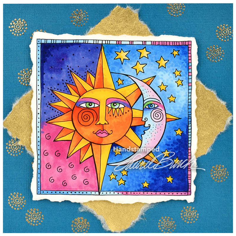 Laurel Burch Celestial Rubber Stamp