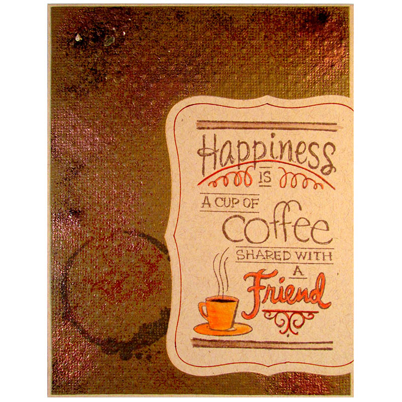 Shared Coffee Rubber Stamp