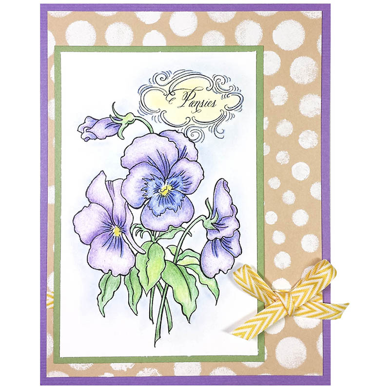 Pansy Spray Rubber Stamp