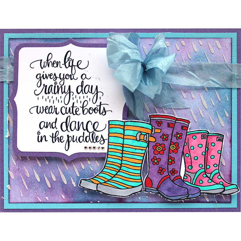 Puddle Boots Rubber Stamp