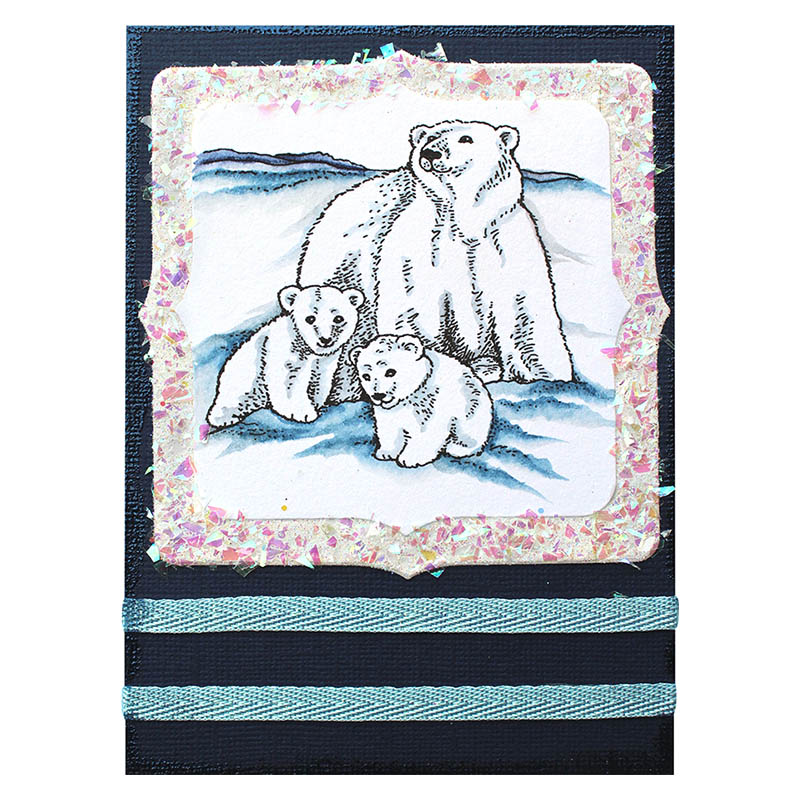 Polar Bear Play Rubber Stamp