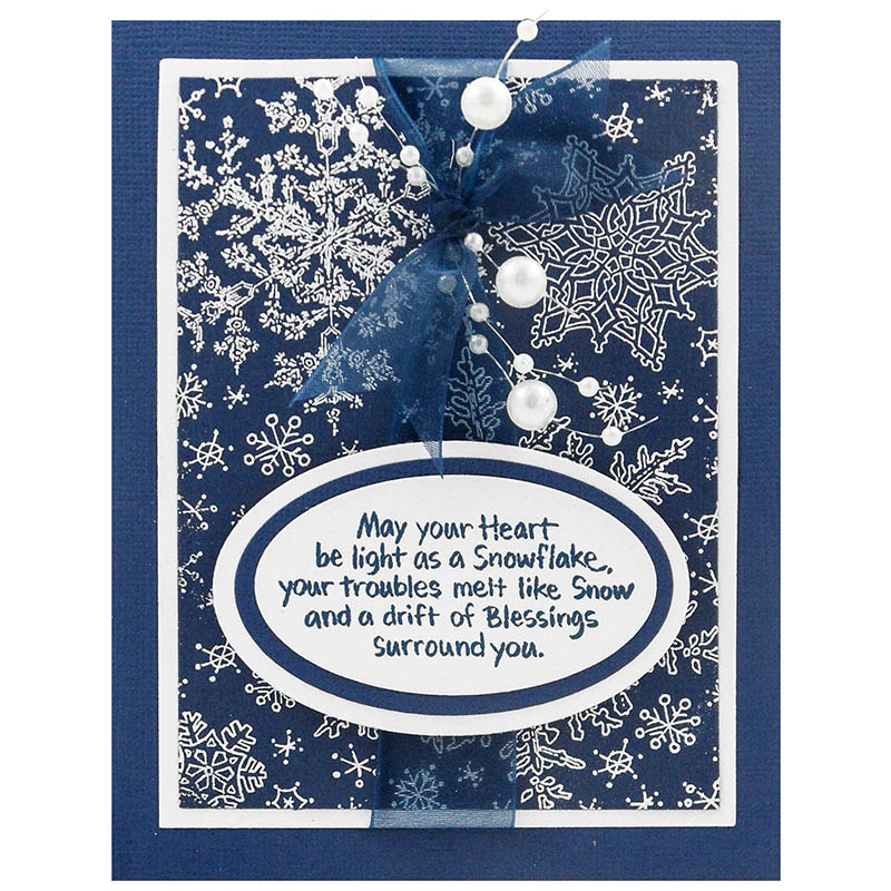 Snowflake Sky Rubber Stamp