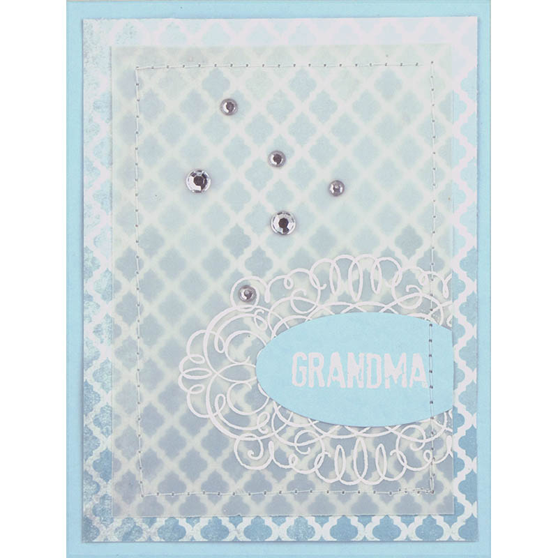 Fran/'s Clear Acrylic Stamp Set Happy Greetings SSC1214 NEW Stampendous