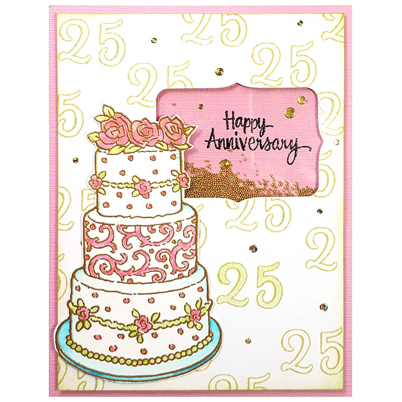 cake tiers perfectly clear stamps set. Black Bedroom Furniture Sets. Home Design Ideas