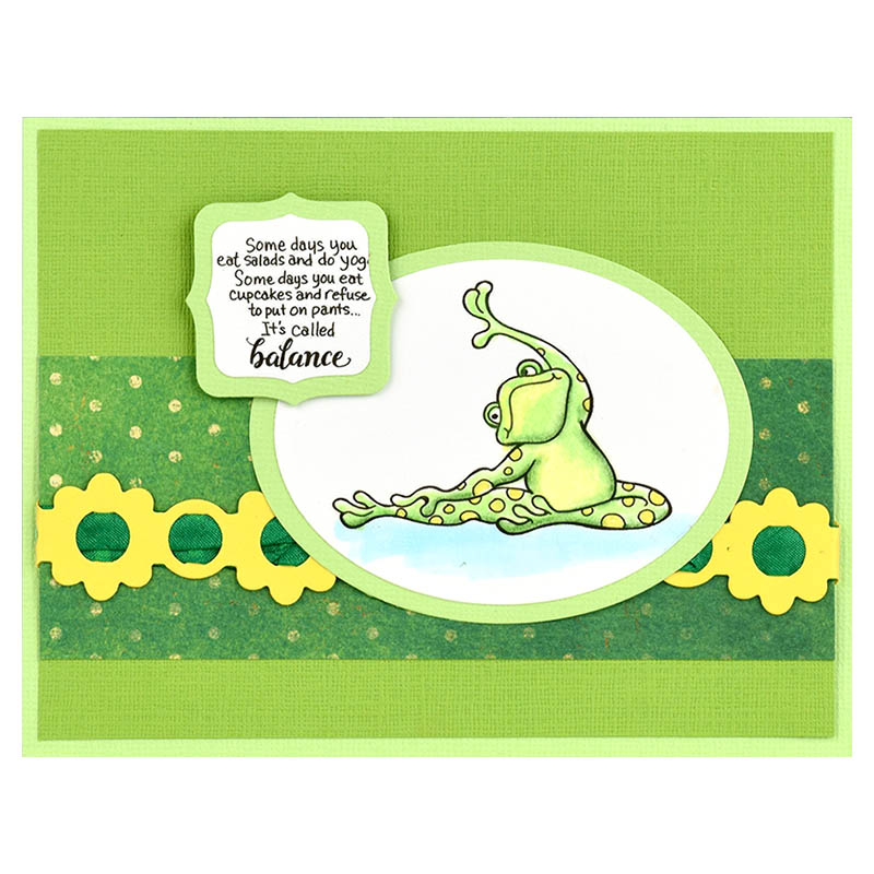 Frog Yoga Perfectly Clear Stamps Set