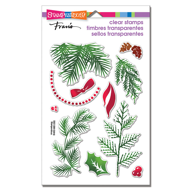 christmas greenery perfectly clear stamps - Christmas Greenery