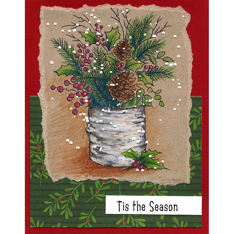 4 by 6-Inch Perfectly Clear Stamp Tis Season