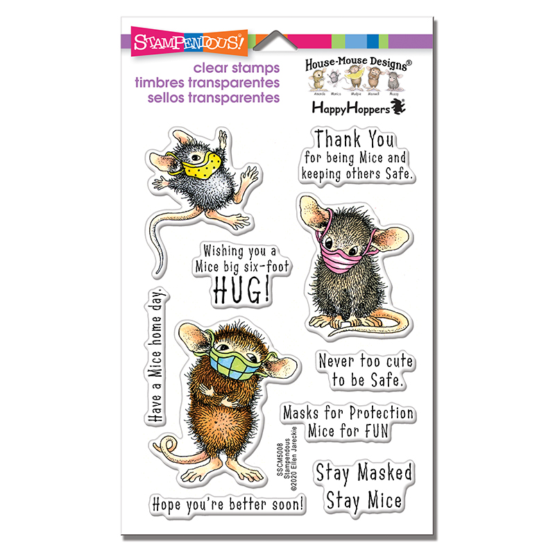 Stampendous, House Mouse Masked Mice Clear Stamp Set