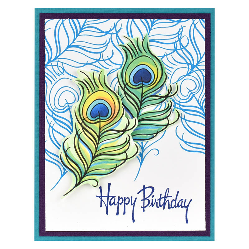 Poised Peacock Graceful Birthday By Fran Seiford Share This Project