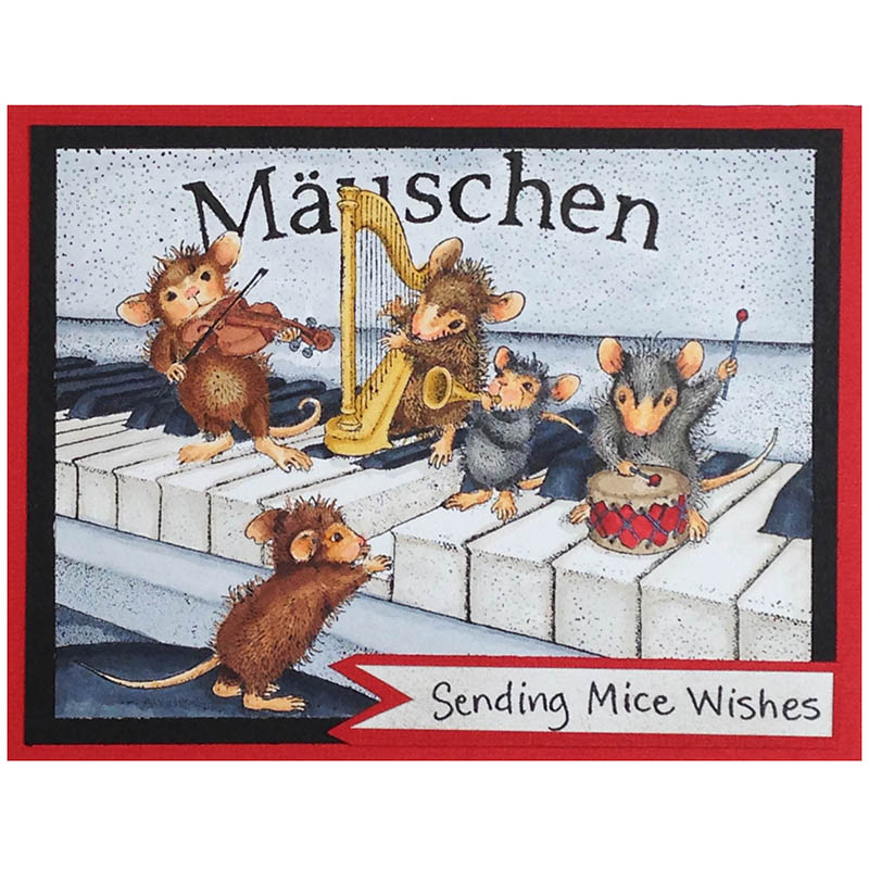 House-Mouse® Designs Musical Mice by Lea Fritts - Stampendous on house mouse christmas, house mouse design time, house cleaning services business cards,