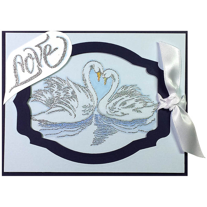 STAMPENDOUS Penned Love Rubber Stamp