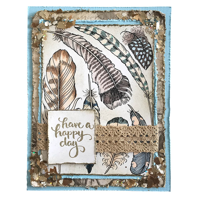 Rubber Stamp Art Projects Feathers Rubber Stamp