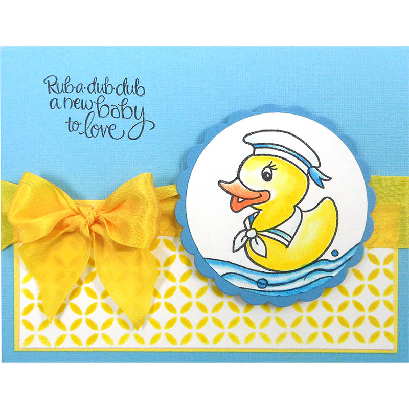 STAMPENDOUS Cling Rubber Stamp Puddle Ducks